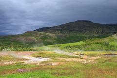 geothermal area haukadalur - stock photo