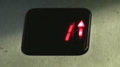 Digital elevator display - stock footage