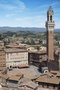 piazza del campo. siena, italy - stock photo