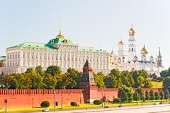 Stock Photo of view of the grand kremlin palace and the ivan the great bell.