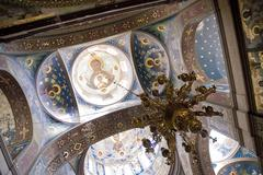 The frescoes in the cathedral Stock Photos