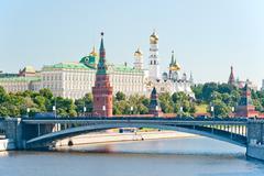 the kremlin, moscow, bolshoy stone bridge - stock photo