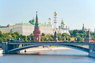Stock Photo of the kremlin, moscow, bolshoy stone bridge