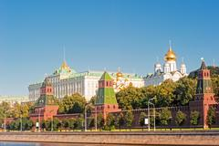 View of the grand kremlin palace and the ivan the great bell. Stock Photos