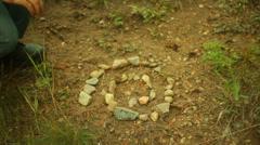Zen stone spiral 2 Stock Footage