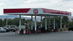 Phillips 66 Gas Station fuel pumps cars HD 9681 Stock Footage
