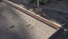 Street sidewalk repair works Stock Footage