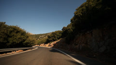 Driving in Crete, Greece Stock Footage