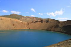 the viti crater - stock photo
