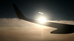 Flight , Sun, Clouds - stock footage