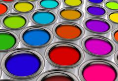 Paint color pallate Stock Illustration
