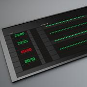 Electronic Timetable Stock Illustration