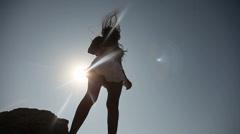 Latin Woman in Sun Stock Footage