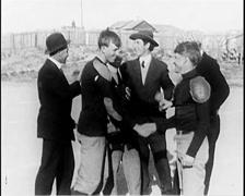 1914 - Nevada Football Match 03 Stock Footage