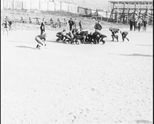 1914 - Nevada Football Match 04 Stock Footage