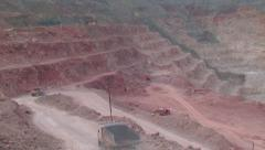 Heavy mining machinery is working in an open pit mine1 Stock Footage