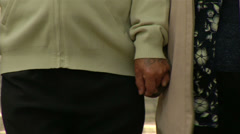 Hands of older people to stay Stock Footage