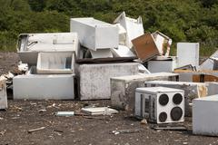 Appliances at the landfill Stock Photos
