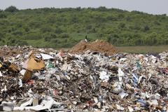 a landfill site - stock photo