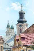 Street in uzhgorod, transcarpathia, ukraine Stock Photos