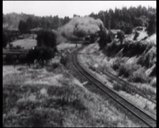 Stock Video Footage of 1915 - Steam Train 03