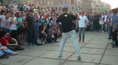 Rap on the street - stock footage
