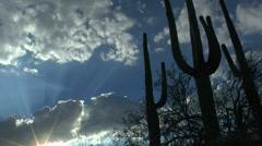Arizona Desert Sun Star Time Lapse - stock footage