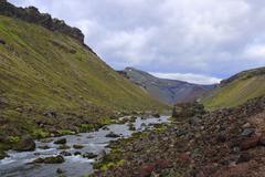 landmannalaugar - stock photo