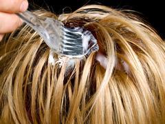 Hair dyeing Stock Photos