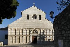 the cathedral of the holy virgin mary's assumption, rab, croatia - stock photo