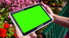 Green Screen Tablet PC 3582 - stock footage