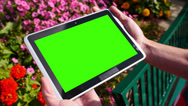 Stock Video Footage of Green Screen Tablet PC 3582