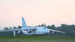 Antonov taxing Stock Footage