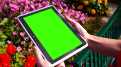 Green Screen Tablet PC 3583 Stock Footage