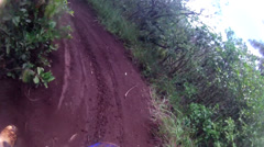 MOTOCROSS KAHUKU HAWAII MX RIDING ON JUNGLE TRAIL POV KAHUKU TRAIL DIRT BIKE HD Stock Footage