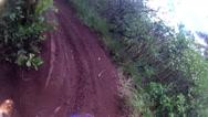 Stock Video Footage of MOTOCROSS KAHUKU HAWAII MX RIDING ON JUNGLE TRAIL POV KAHUKU TRAIL DIRT BIKE HD