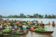 Stock Photo of Floating Market