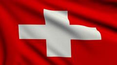 Flag of Switzerland looping Stock Footage
