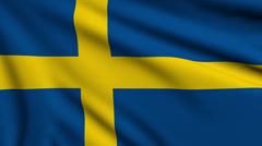 Flag of Sweden looping Stock Footage