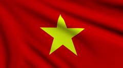 Flag of Vietnam looping Stock Footage
