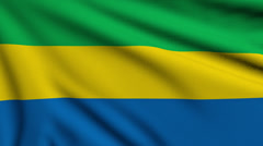 Flag of Gabon looping Stock Footage