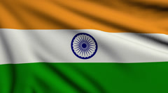 Flag of India looping Stock Footage