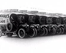 1917 - Langendorf Bakery Trucks 01 - stock footage
