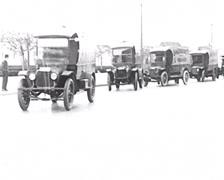 1917 - Langendorf Bakery Trucks 02 - stock footage