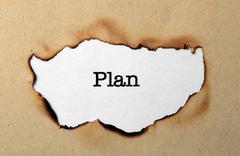 plan concept - stock photo