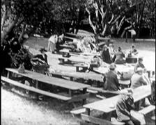 1917 - Picnic 01 - stock footage