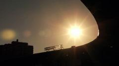 Jeld-Wen Field Stadium Sunset (PGE Park; Portland, Oregon; Timbers Soccer; Wenn) Stock Footage