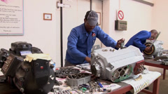 Ammonia black students Compressor Assembly Training NTSC - stock footage