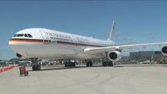 German Government A340  Stock Footage