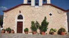 Church, Greece, Crete Stock Footage
